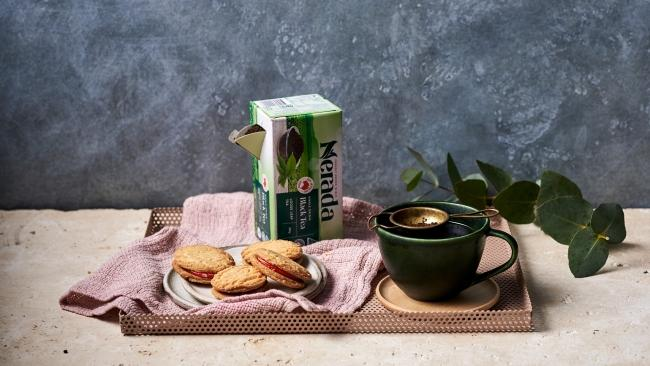 Nerada Tea, based in Far North Queensland served with biscuits.